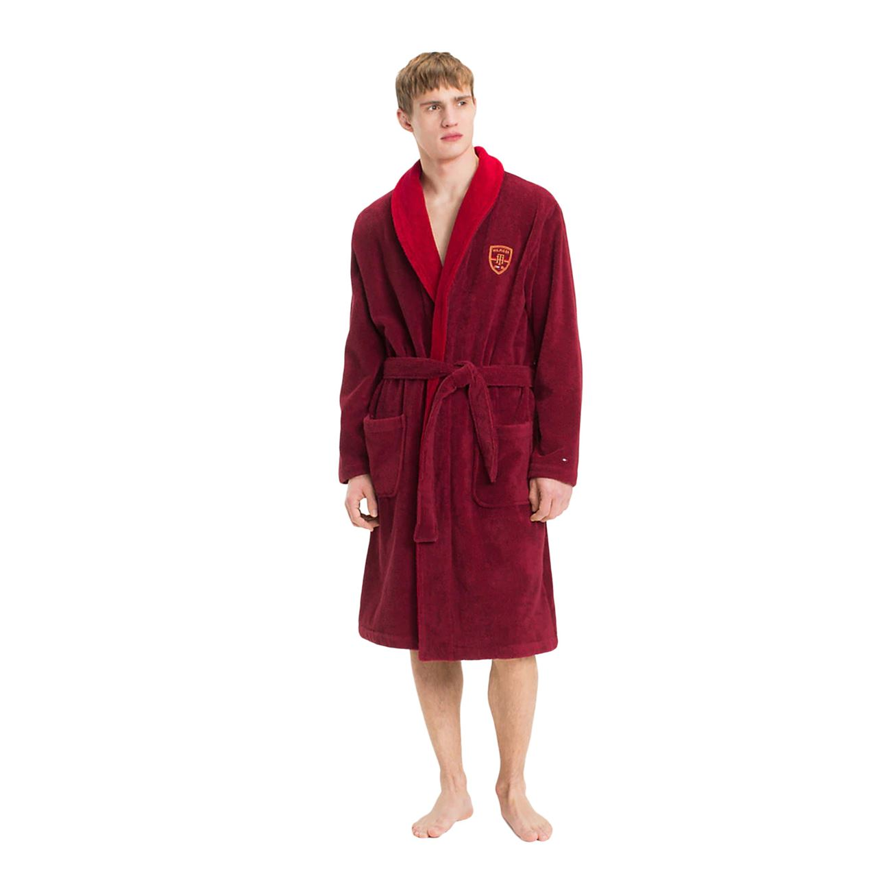 official price rich and magnificent latest trends Tommy Hilfiger Men Bathrobe Shawl Collar < Bathrobes   Fms ...