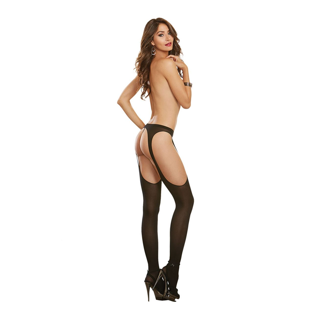 995111678 Dream Girl Dreamgirl Sheer Suspender Pantyhose   Full Sexy